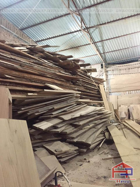 Trữ lượng gỗ lớn tại xưởng