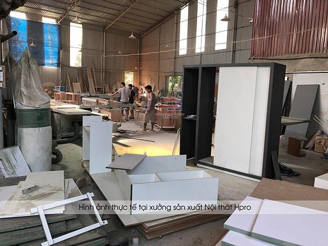 Cận cảnh xưởng sán xuất của nội thất Hpro