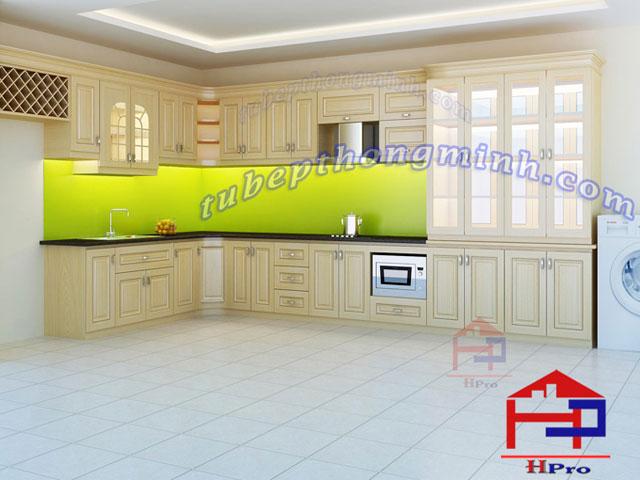 Tủ bếp gỗ sồi Nga TBSN110
