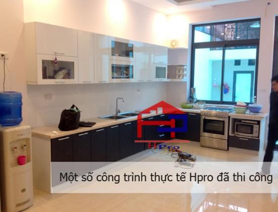 Tủ bếp Acrylic nhà anh Hướng