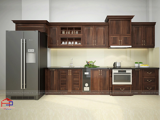Tủ bếp tân cổ điển TBTCD044