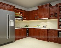 Tủ bếp tân cổ điển TBTCD045