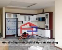 Tủ bếp Acrylic nhà anh Đạt