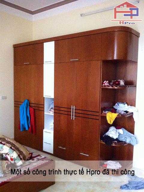 Tủ áo gỗ veneer xoan đào
