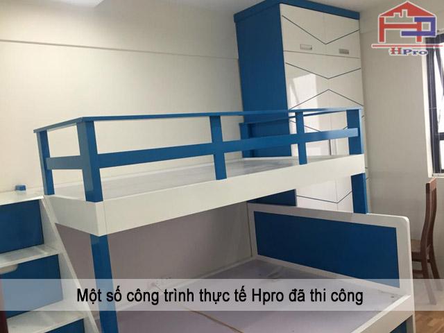 Giường tầng cho bé bằng chất liệu gỗ Acrylic bóng gương
