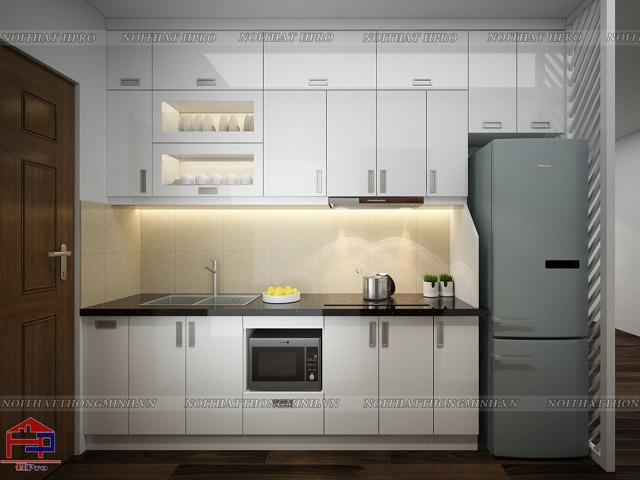 Mẫu tủ bếp hiện đại cho nhà chung cư