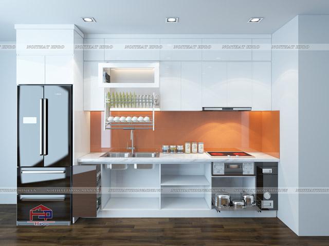 Cách bố trí thiết bị tủ bếp thông minh hợp lý mang lại sự thuận tiện cao
