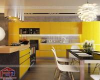 Phân loại tủ bếp hiện đại bằng gỗ theo màu sắc