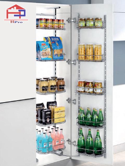 Dụng cụ nhà bếp thông minh - tủ đồ khô 6 tầng 12 rổ