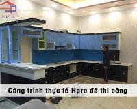 Tủ bếp Acrlic quầy bar nhà anh Vũ - Bắc Giang