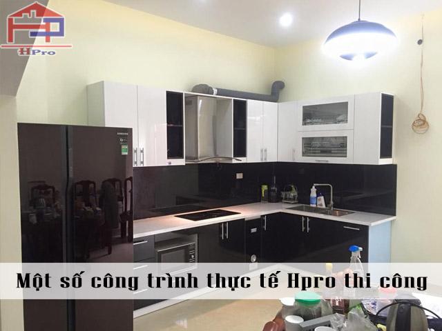 Công trình tủ bếp Acrylic nhà chị Thịnh - Tư Đình - Long Biên