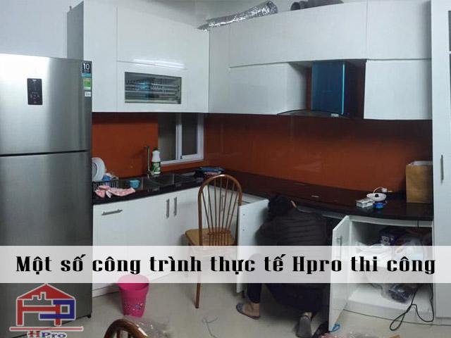 Công trình tủ bếp Acrylic nhà chú Sơn - 77 Nguyễn Xiển