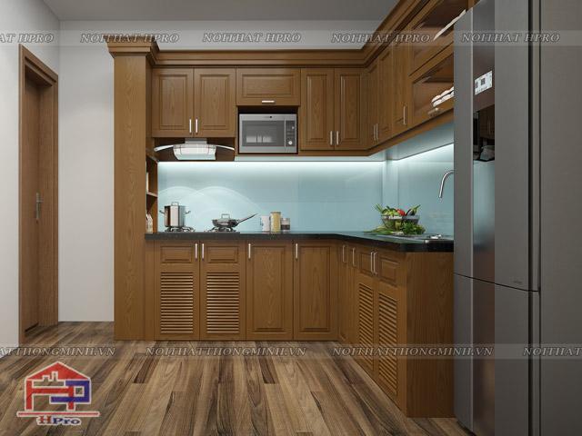 Bố trí kích thước cánh tủ bếp tiêu chuẩn