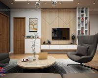 Nội thất phòng khách hiện đại, sang trọng chất liệu gỗ công nghiệp