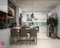 Nội thất phòng ăn hiện đại theo phong cách Châu Âu