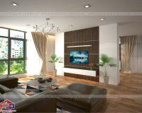 Phòng khách sang trọng và hiện đại với chất liệu gỗ công nghiệp