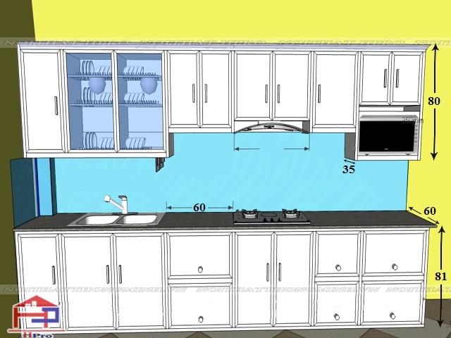 Kết quả hình ảnh cho hình ảnh kích thước tủ bếp thông thường