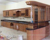 Bảng báo giá tủ bếp gỗ sồi tự nhiên tại Hpro