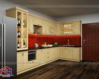 Có nên đóng tủ bếp inox cánh gỗ tự nhiên không?