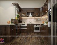 Các mẫutủ bếp gỗ tự nhiênđẹp ấn tượng khiến chị em mê mẩn