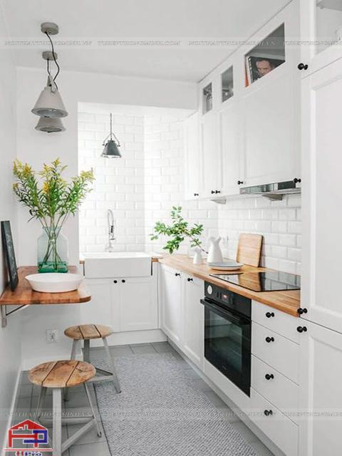 Cách bố trí phòng bếp nhỏ- Tận dụng nguồn ánh sáng tự nhiên