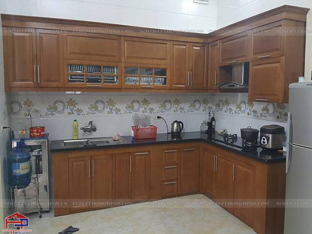 Đóng tủ bếp hà nội tại Hpro không pha gỗ tạp