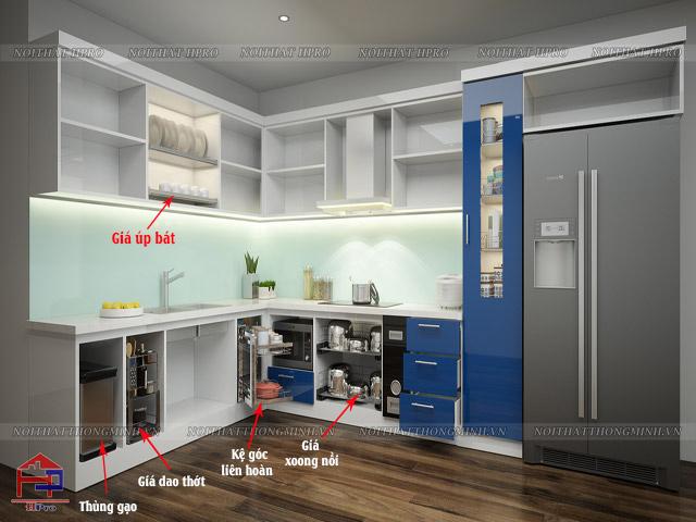 Dựa trên cấu trúc bếp và nhu cầu sử dụng của gia đình để lựa chọn phụ kiện tủ bếp phù hợp