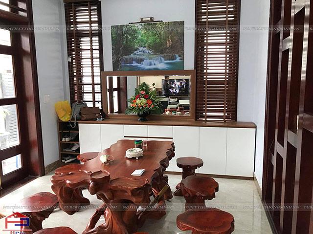 Hình ành thực tế tủ bếp gỗ melamine An Cường nhà anh Năng