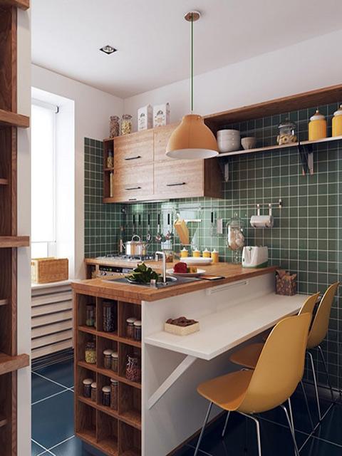 Mẫu thiết kế nhà bếp nhỏ hẹp - 1