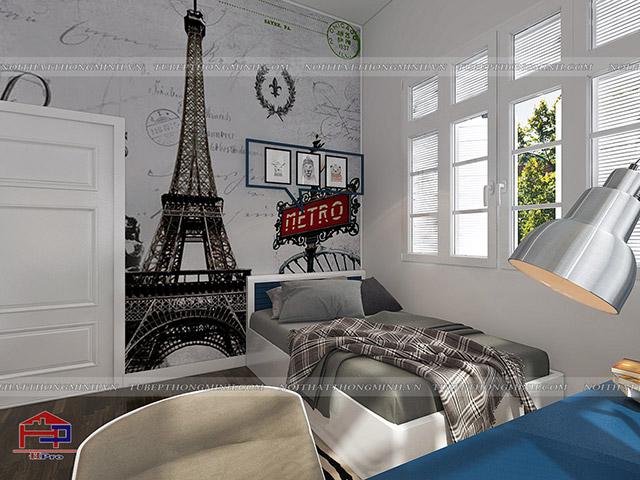 Mẫu thiết kế phòng ngủ cho bé trai nhà anh Tú