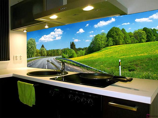 Mẫu kính ốp bếp 3d độc đáo