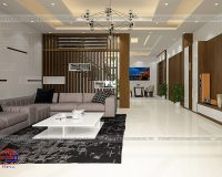 Thiết kế nội thất phòng khách biệt thự nha anh Khánh- Lào Cai