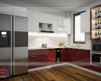 Tủ bếp acrylic TBAC288