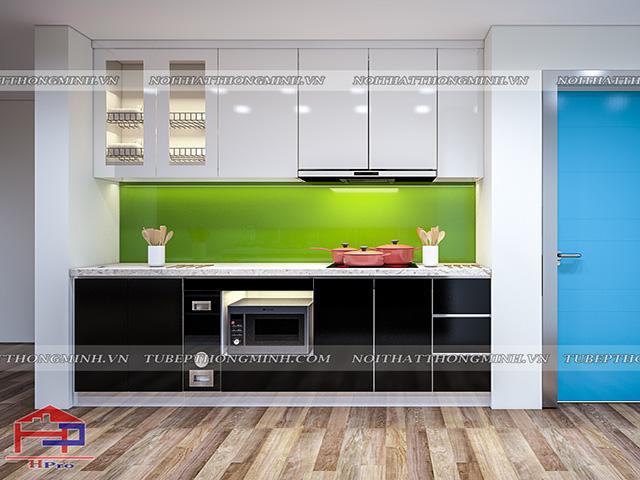 Tủ bếp acrylic TBAC296