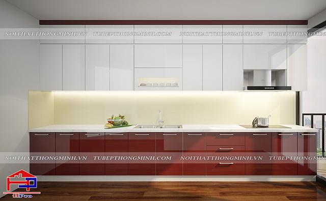 Tủ bếp acrylic TBAC306