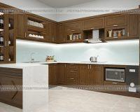 Tủ bếp gỗ sồi Mỹ TBSM217