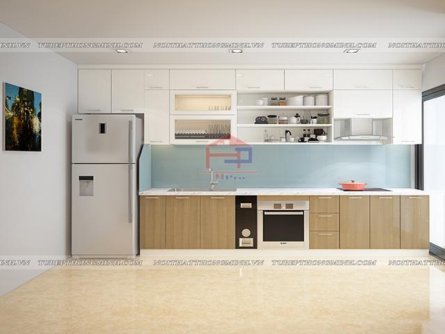 Tủ bếp laminate TBLM91