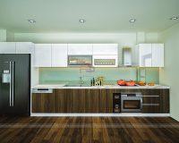 Tủ bếp laminate TBLM92