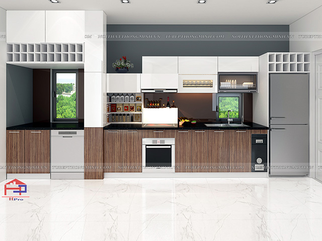 Tủ bếp laminate TBLM93