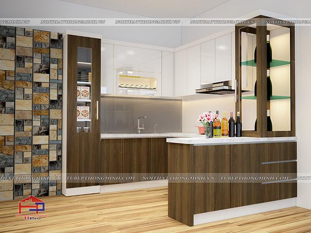 Tủ bếp Laminate TBLM98