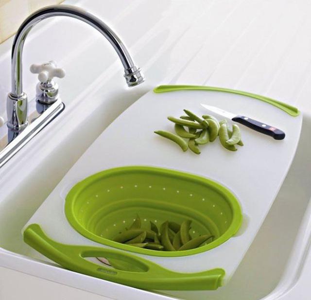 Dụng cụ nhà bếp thông minh- thớt thái và rửa thực phẩm
