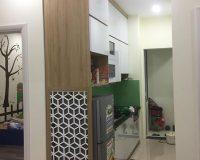 Hình ảnh thực tế tủ bếp laminate kèm vách ngăn nhà chị Vân - The Golden An Khánh