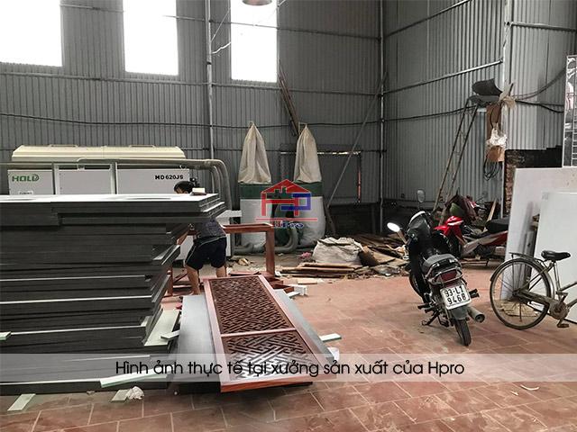 Hình ảnh thực tế tại xưởng sản xuất nội thất - tủ bếp của Hpro