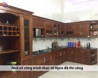 Tuyển tập mẫu tủ bếp gỗ xoan đào thực tế Hpro đã thi công hoàn thiện cho KH
