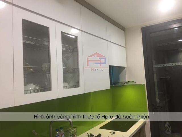 Hình ảnh thực tế tủ bếp laminate nhà anh Hoàng - HD Mon