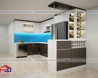 Tủ bếp acrylic TBAC307