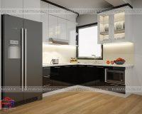 Tủ bếp acrylic TBAC308