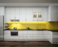 Tủ bếp acrylic TBAC309