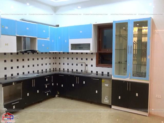 Tủ bếp gỗ inox bền đẹp dài lâu