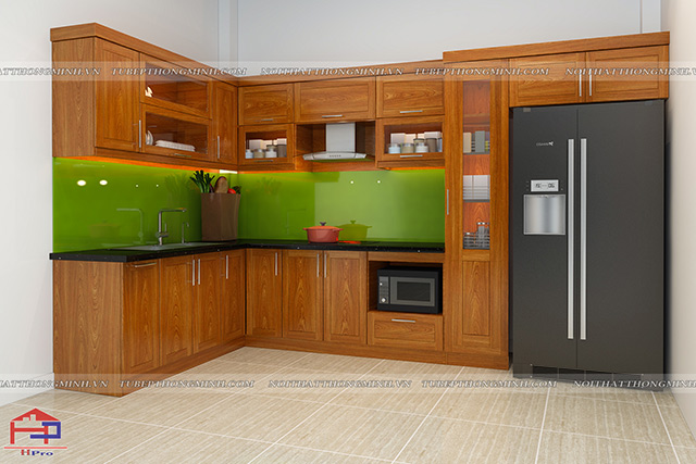 Tủ bếp gỗ lát TBGL101